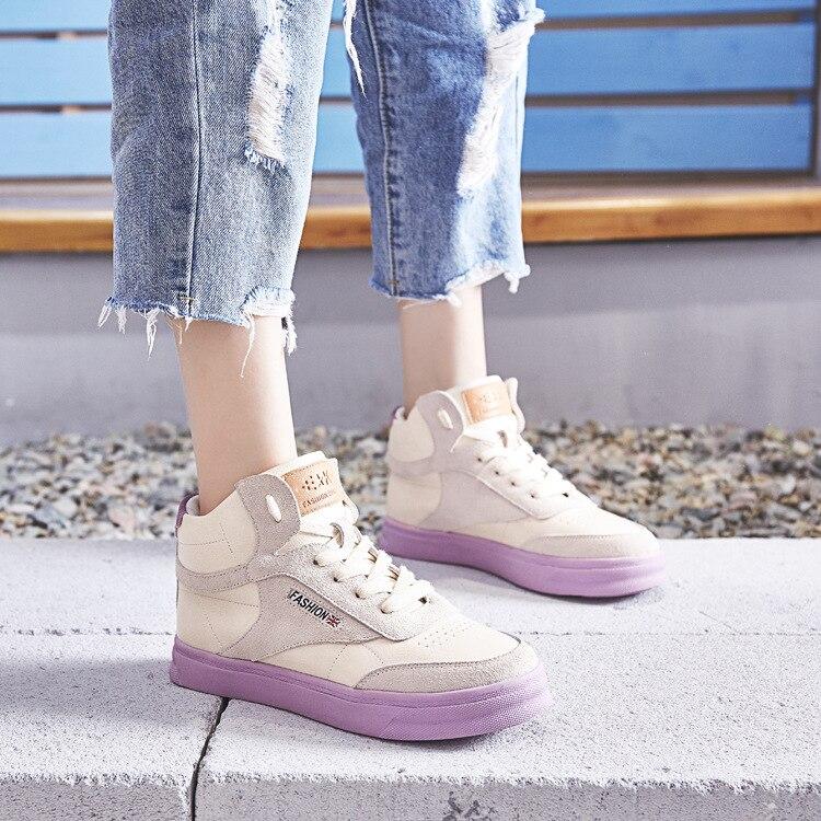 Primavera Zapatos Nueva 2018 Coreana Femenina Moda Y Versión Color Simple Sólido Casual De Suave Lavanda Planos blanco Cómodo 4Rdd6wqx