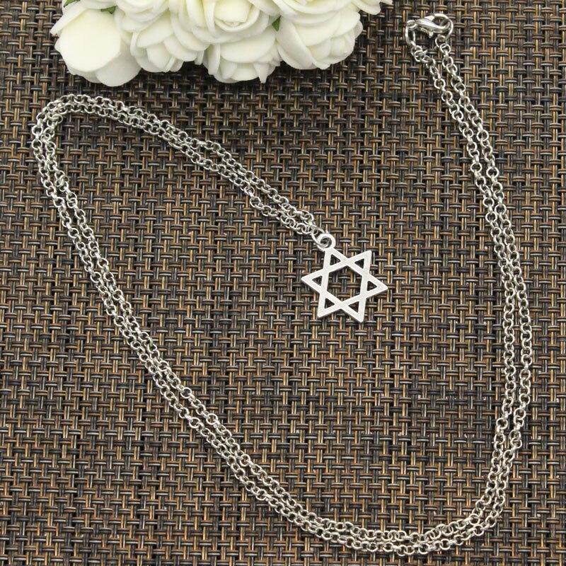 New Fashion Pendant Star Of David Shield Choker Charm Short Long DIY Necklace Factory Price Handmade Jewelry