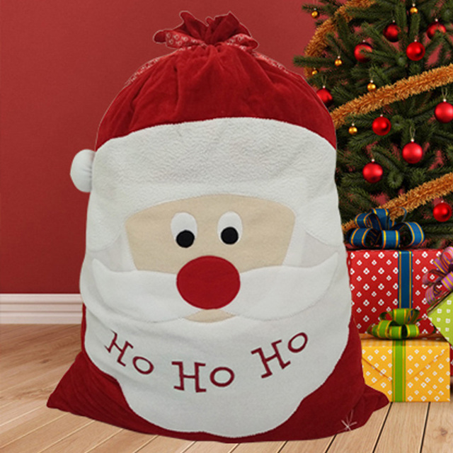 70*50CM Cloth Christmas Gift Bags Santa Present Candy Bags Father ...