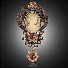 Камея античное булавки брошь броши королева серебро хрусталь рождественский горный золото