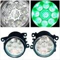 Led verde luzes de nevoeiro lâmpadas Car Styling para Peugeot 207 307 407 607 3008 2000 - 2013