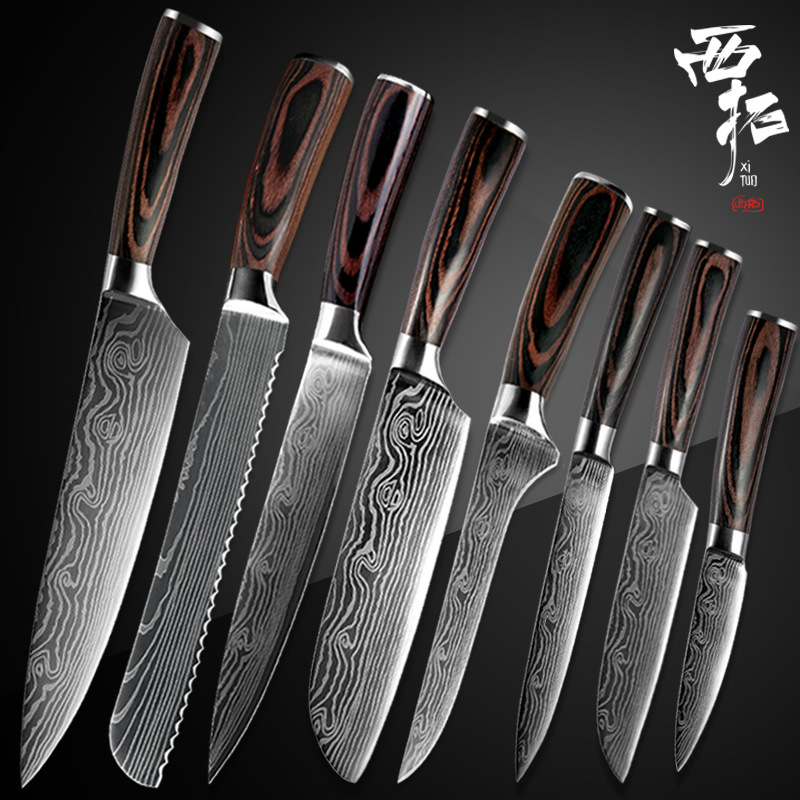 XITUO Chef-Knife Handle Kitchen-Tool Laser Damascus-Pattern Japanese Santoku New Color
