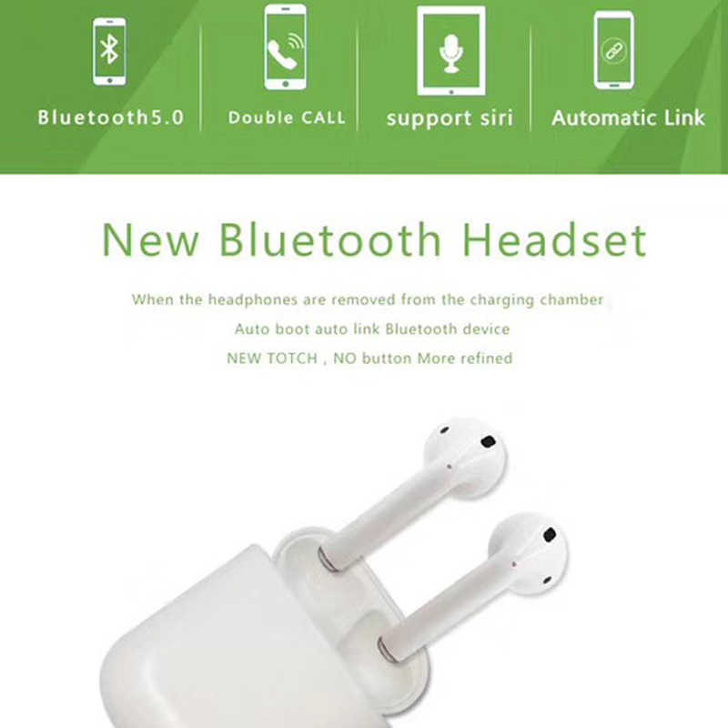 In-Ear M9X Tws Wireless Stereo Earphone Double Ear Touch Key Auto Pairing  Bluetooth Earbuds With Charging Box For iPhone