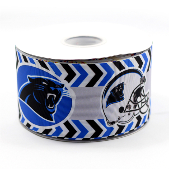 39d7450b US $37.6 |75mm Grosgrain Ribbon Rugby Football Carolina Panthers Printed  Ribbon Handmade Sports Webbing 50 Yards MD150917 25 2104-in Ribbons from  Home ...