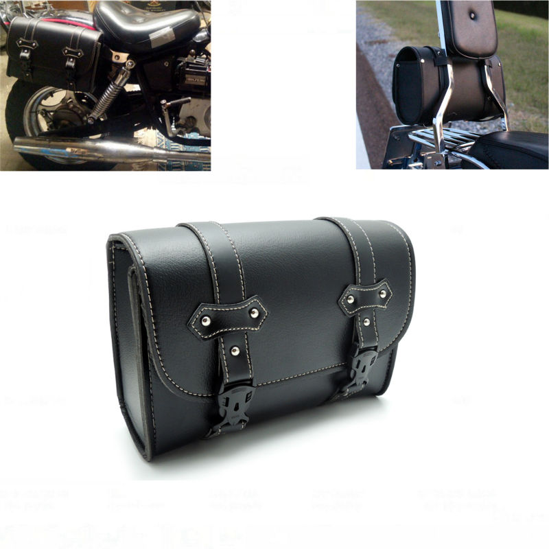 Motorcycle Tool Bag >> Motorcycle Saddle Bags Leather Storage Tool PU Leather Sissy Bar Side Pouch Bags For Harley ...