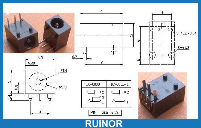 500 pièces 3.5mm x 1.3mm Prises DC Jack Femelle PCB Chargeur DC Prise De Courant