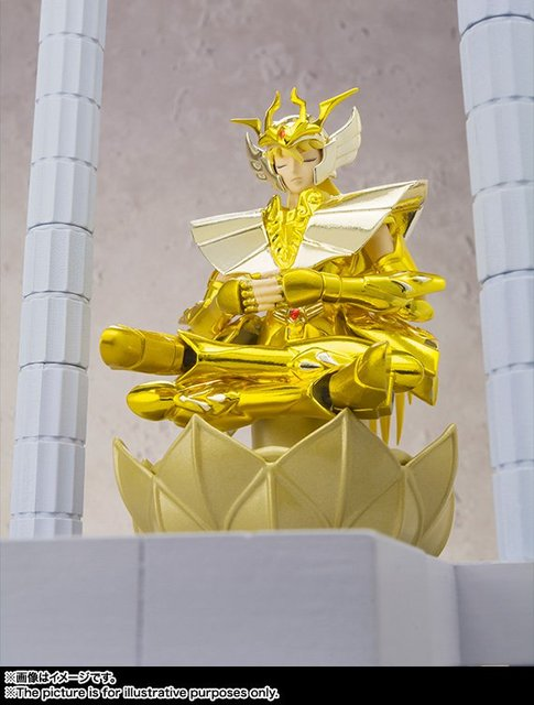 """Saint Seiya"" Original BANDAI Tamashii Nations D.D.PANORAMATION / DDP Action Figure - VIRGO SHAKA - The Temple of the Maiden -"