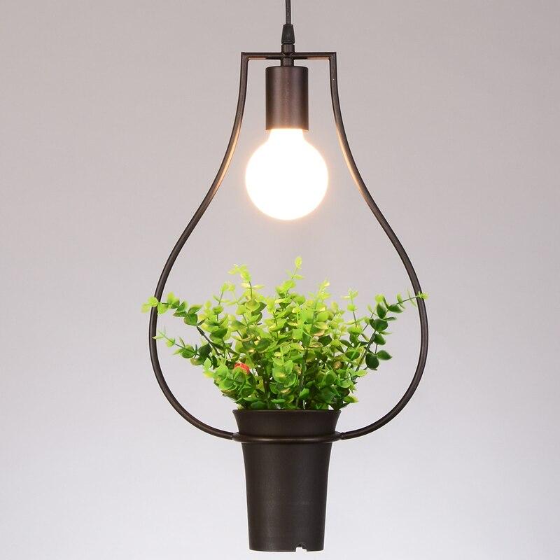 Creative Plant Art Pendant Fixtures Dining Room Lights Pendant Lamps ...