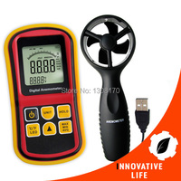 Digitale Multifunctionele Thermo-Anemometer Air Speed Meter Thermometer Temperatuur 0 ~ 45 m/s Velocity Beaufort Wind Schaal Staafdiagram