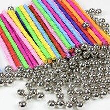 50~ 200 шт. магнитные стержни металлический шар Магнитный конструктор строительные блоки строительные игрушки для детей подарок DIY конструктор развивающие