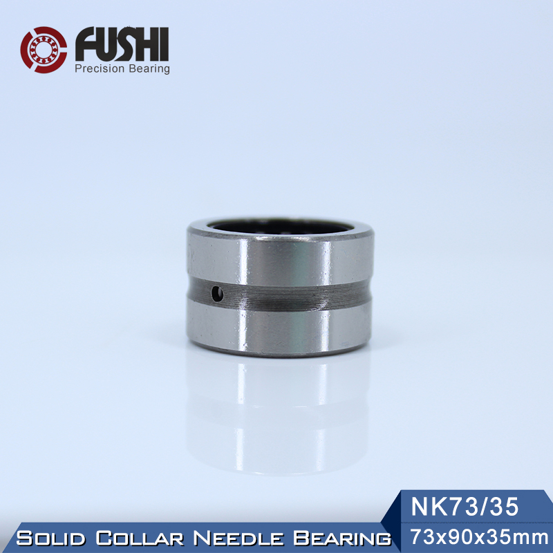 NK73/35 Bearing 73*90*35 mm ( 1 PC ) Solid Collar Needle Roller Bearings Without Inner Ring NK73/35 NK7335 Bearing nk90 25 bearing 90 110 25 mm 1 pc solid collar needle roller bearings without inner ring nk90 25 nk9025 bearing