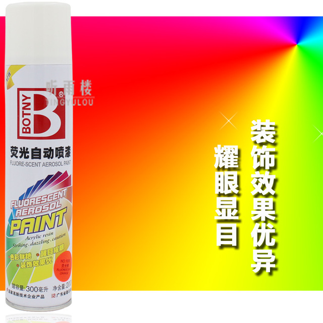 Luminous paint spray