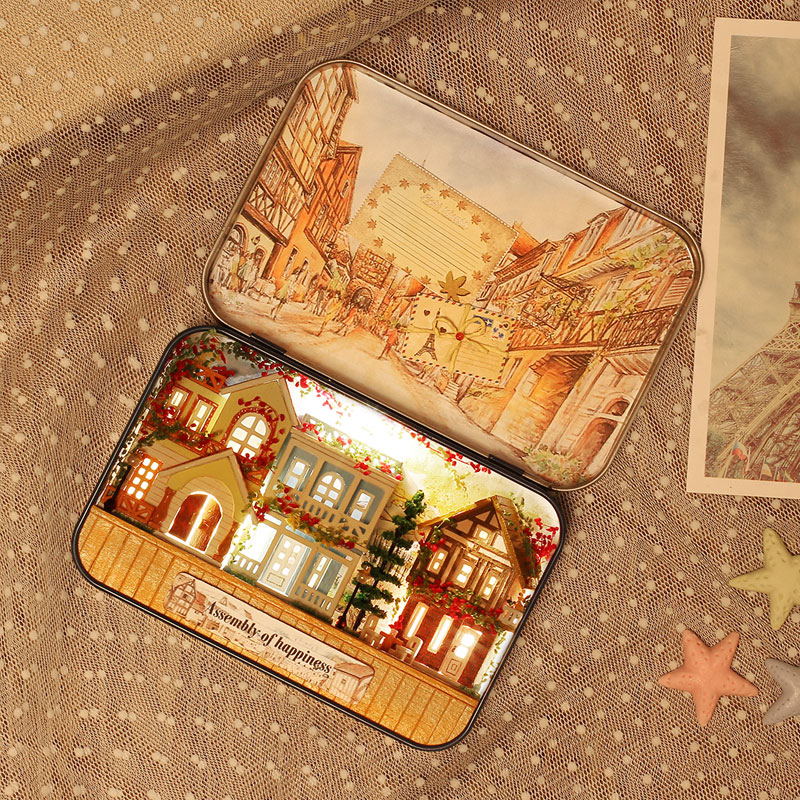 Miniatur Rumah Boneka DIY Kotak Kayu Dollhouse Theatre 3D Rumah - Boneka dan mainan lunak - Foto 3