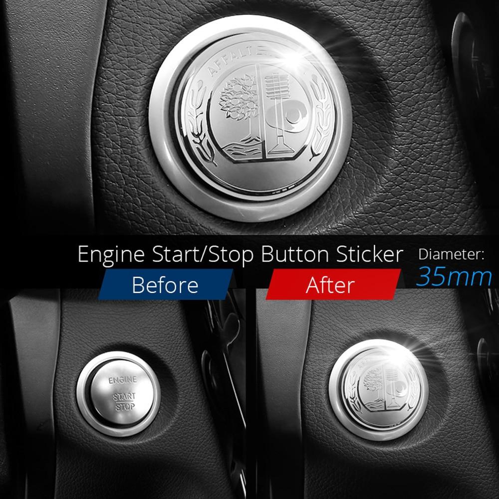 52mm Multimedia Control Button Knob Emblem Sticker Badge for Mercedes Brabus