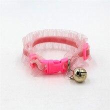 Cats Collars bell Dogs Accessories For Pets Kitten puppy Chihuahua Necklace obroza dla kota kedi tasmalar kattenhalsband