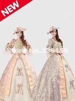 Elegant Royal Palace Marie Antoinette Civil War Medieval Renaissance Dress Ceil Victorian Ball Gown Costume For