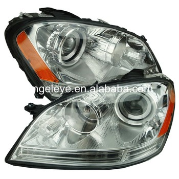 For BMW for W164 ML280 ML320 ML350 2005-2008 year Head Lamp Silver housing yellow reflector TYC