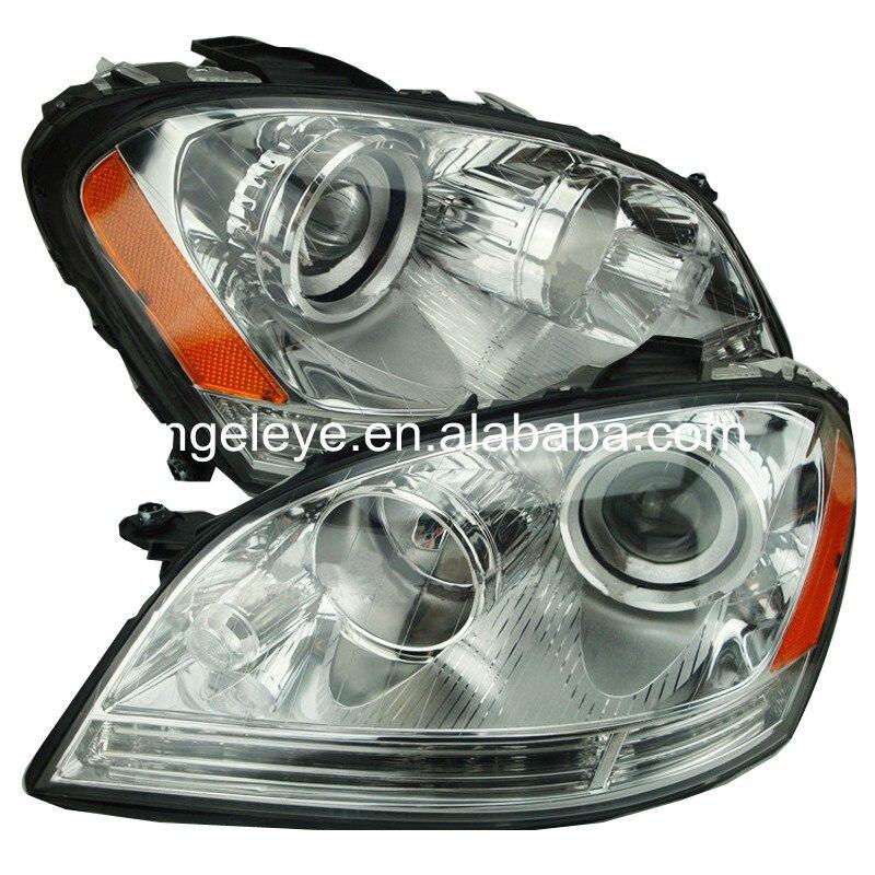 Pour BMW pour W164 ML280 ML320 ML350 2005-2008 année lampe frontale boîtier en argent jaune réflecteur TYC