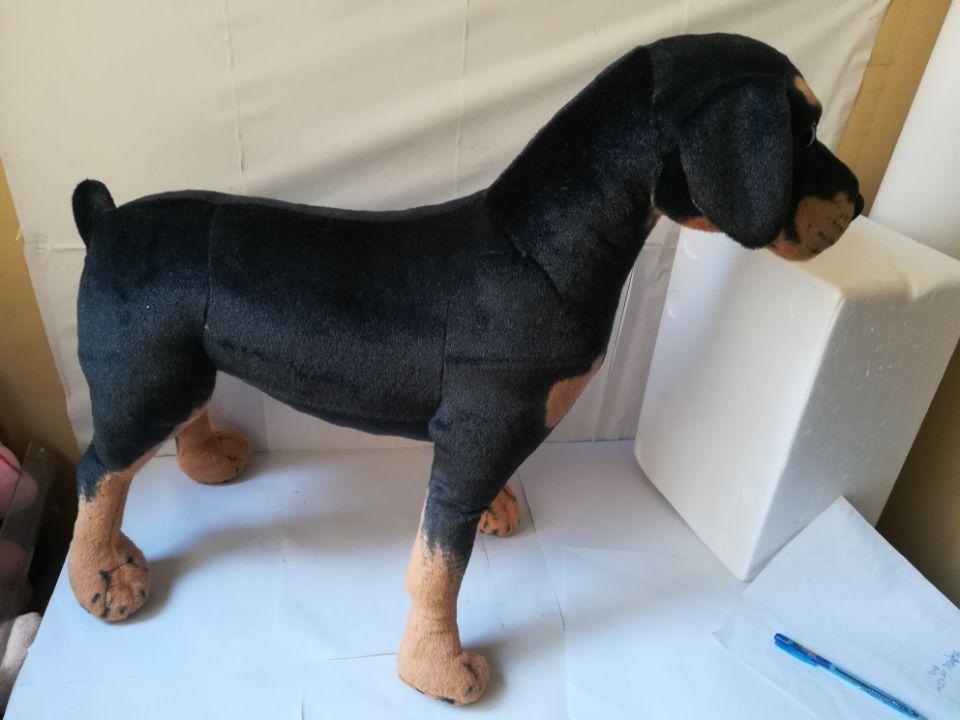 Grand 60x55 cm simulation Rottweiler chien en peluche jouet debout pose Rottweiler poupée cadeau de noël b2501 - 3