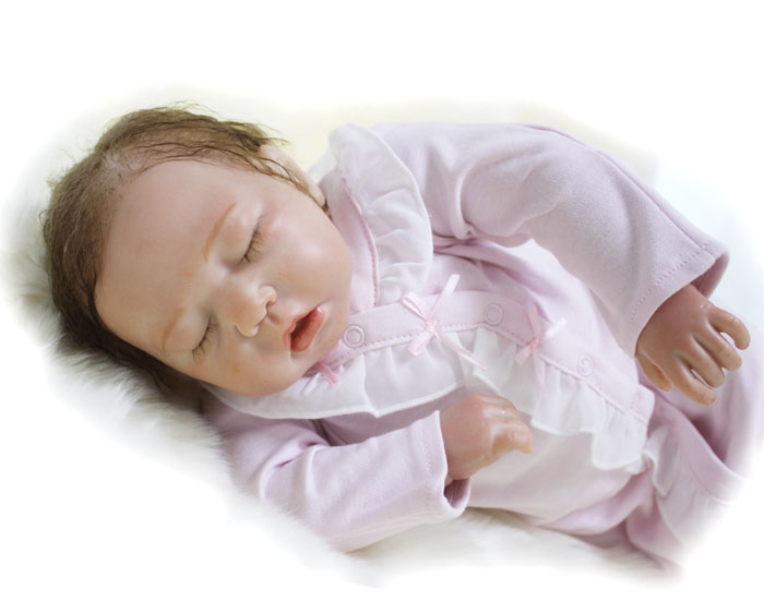 Soft Silicone Reborn Baby Dolls Toy Lifelike Exquisite Sleeping Newborn Girls Babies Cloth Body Play House Toy Collectable Doll silicone reborn baby dolls toy lifelike exquisite soft body newborn boys babies doll best birthday gift present collectable doll