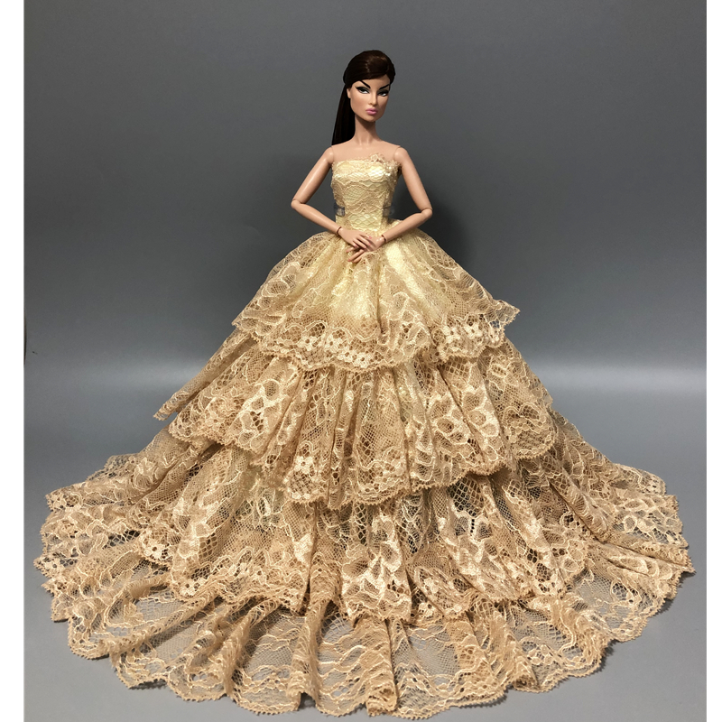 Special Case For Barbie Clothes Wedding Dress Toys Up Doll Clothing For Barbie Doll Wedding Dress Princess Skirt