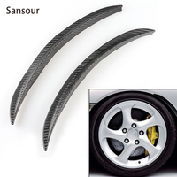32CM Universal Carbon Fiber Wheels Lip Fender Flares Car Decoration Trim Free Shipping