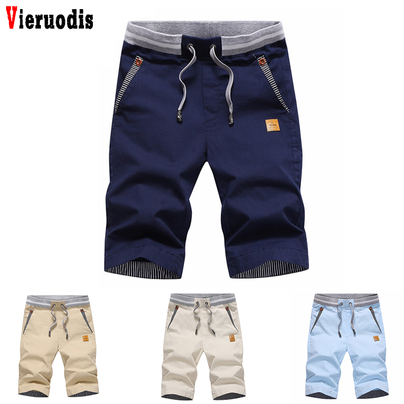 Summer Brand 2019 Cotton Solid Casual Shorts Men Cargo Beach Shorts M-3XL Shorts Men's Shorts Plus Size 3XL KB186