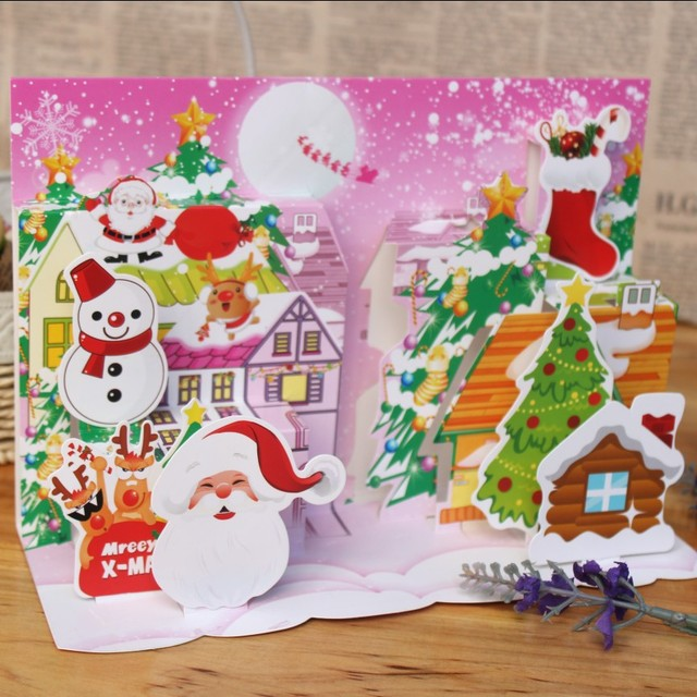 2018 new south korea christmas cards business cards hand opening is 2018 new south korea christmas cards business cards hand opening is a three dimensional picture reheart Choice Image