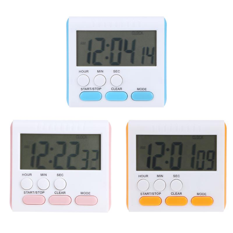 Electric LCD Kitchen Timer Digital Alarm Count Up Down Clock Back Stand Practical Cookin ...