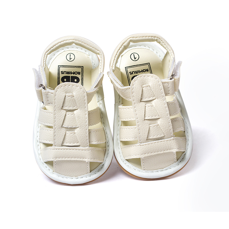 Newborn Baby Infant Boys Girls Summer Shoes Hard Sole Pu