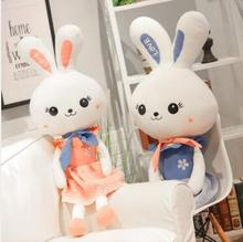 WYZHY New creative cute princess rabbit plush toy long ears rabbit doll doll pillow children gift 100CM super long 100cm plush pillow staffed cute stitch and lio toy best gift for children girl creative birthday gift