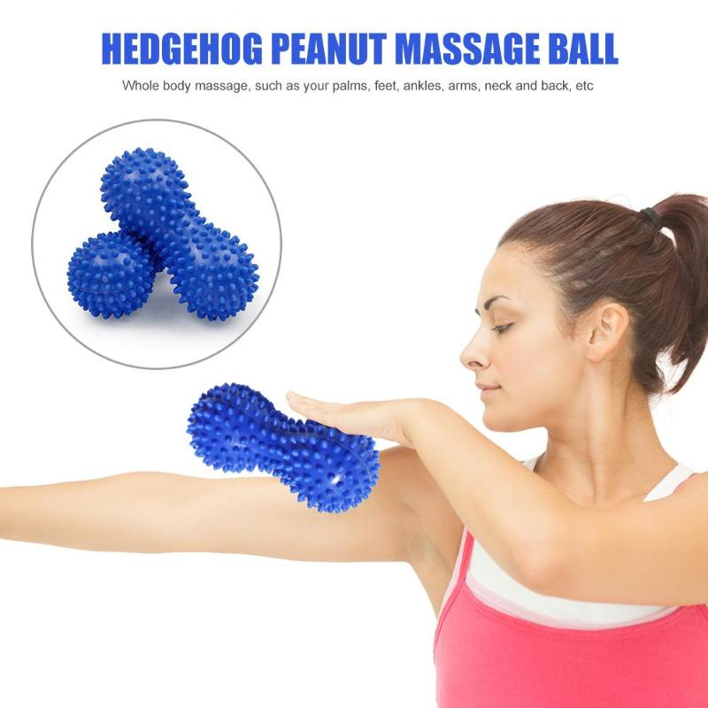 Galleria fotografica Peanut Shape Massage Yoga Fitness Ball Stress Relax Body Spiky PVC Resistant Foot Spiky muscle Massager Trigger Point Foot