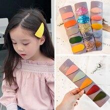 цена 2019 New 5Pcs/Pack Geometric Cute Girl Hairpins Handmade Princess Barrettes Hair Clips Headbands Kids Women Hair Accessories