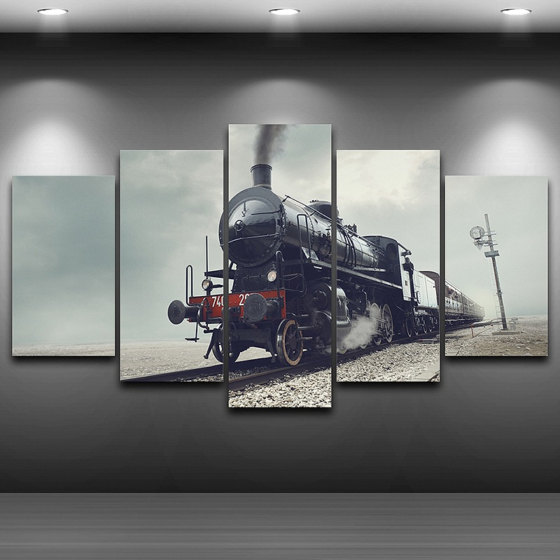 Train Wall Art train canvas wall art promotion-shop for promotional train canvas