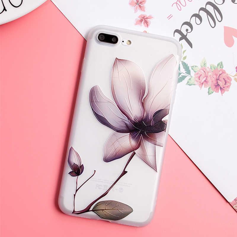 Capa para iphone x xr 11 pro max 7 8 plus 5 6 s tpu flores caso para samsung galaxy note 10 s10 plus a3 a5 a7 j7 j3 j5 2016 2017