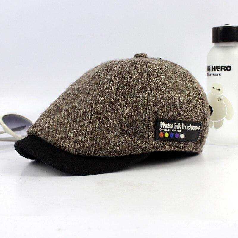 7ead3451c US $9.0 |Minhui 2016 New Vintage Beret Hats for Men Winter Cap Casquette  Visor Knit Hat Boinas Bere Gorras Planas Caps-in Berets from Apparel ...