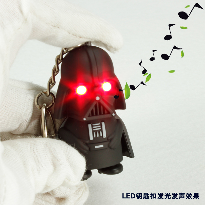 LED-ficklampa Darth Vader Star War Yoda Keychains Anakin Skywalker - Toy figuriner