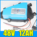 Батарея для электровелосипеда 48В 12Ач  треугольная литий-ионная батарея 48В 500 Вт  Бесплатная доставка и доставка