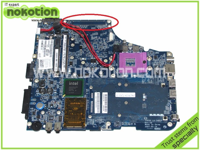 K000055760 Laptop <font><b>Motherboard</b></font> for Toshiba Satellite <font><b>A200</b></font> A205 ISKAA LA-3481P REV 2A Intel GL960 DDR2 Without graphcis slot image