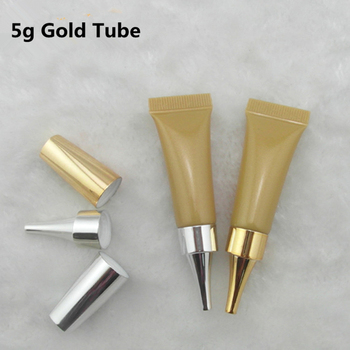 100pcs 5ML Gold Empty Plastic Soft Tube Eye Cream Gel Packaging Tube Container BB Cream Soft Tube Soft Tube Cosmetic Packaging
