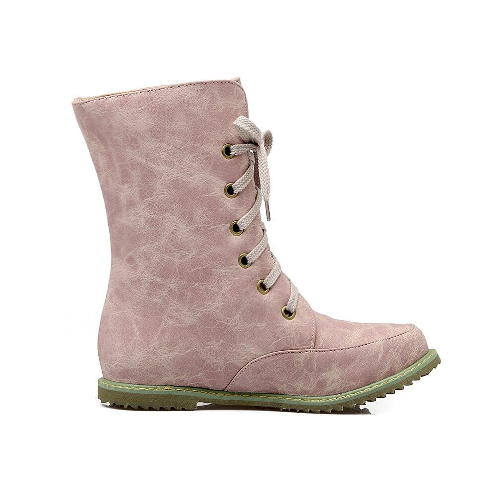 Tamaño grande 34 52 nuevo round toe hebilla Botas para las mujeres tie  Botines Tacones moda caliente invierno primavera otoño casual Zapatos 503  en Botines ... 1171c9fa2af0