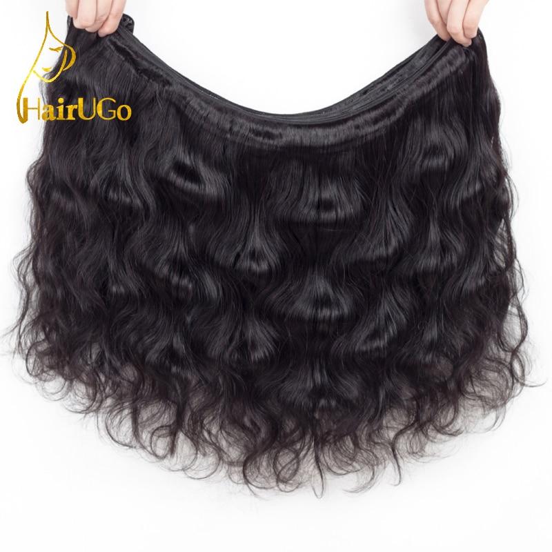 HairUGo Pre-coloured 3 Body Wave Bundels Wave Human Hair Bundels met - Mensenhaar (voor zwart) - Foto 2