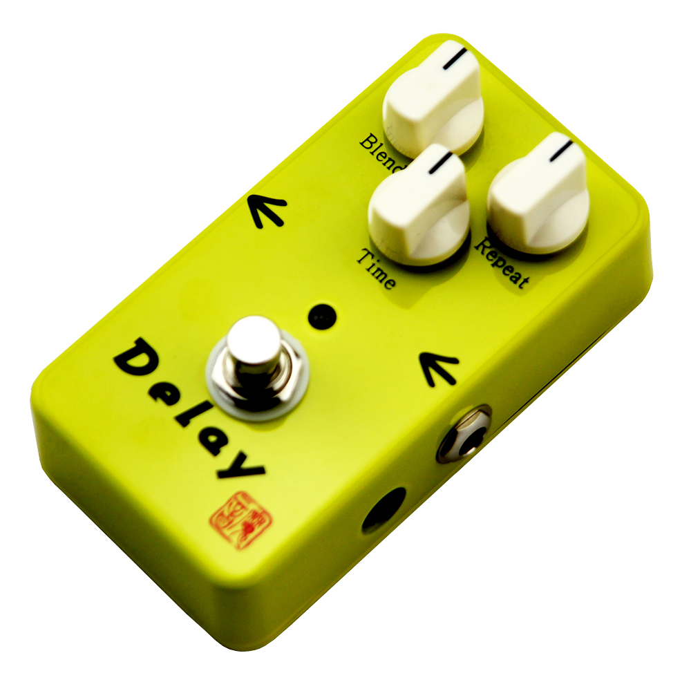 Moen Delay Effect Pedal Blend Repeat Time Control Electric Guitar Effects AM-DL True Bypass aroma adl 1 true bypass delay electric guitar effect pedal high quality aluminum alloy guitar accessories delay range 50 400ms
