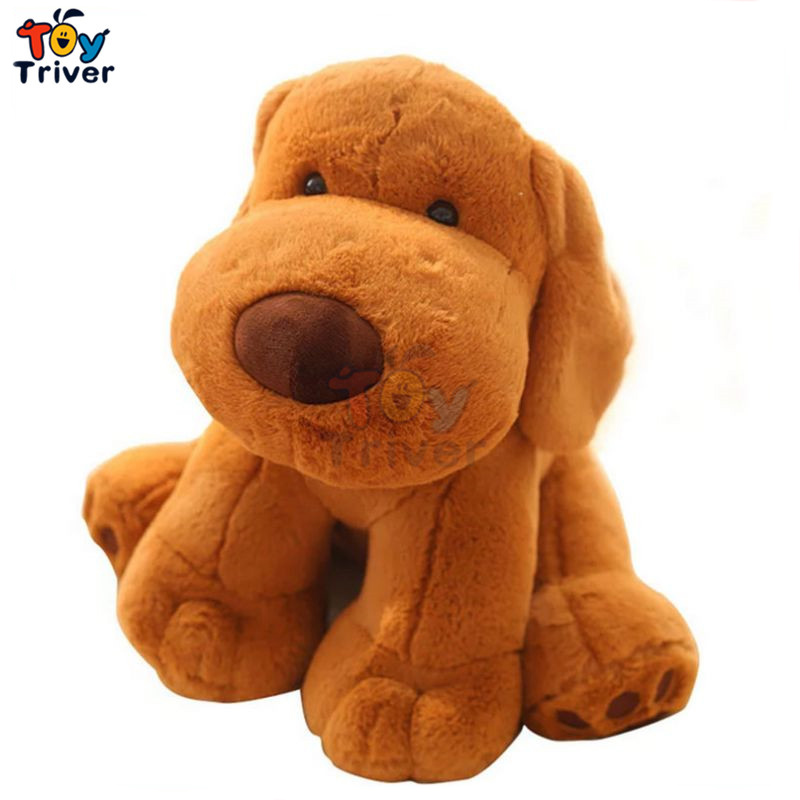40cm Kawaii Simulation Yellow Puppy Dog Plush Toys Stuffed Animals Doll Kids Baby Children Birthday Gift Home Shop Decoration 45cm cute dog plush toy stuffed cute husky dog toy kids doll kawaii animal gift home decoration creative children birthday gift