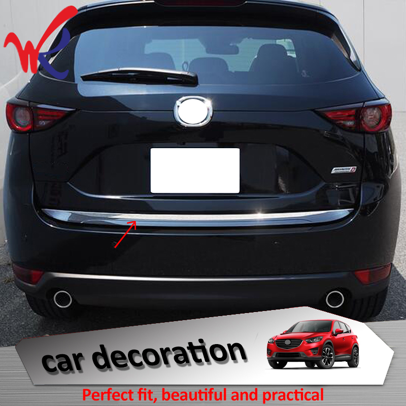 Лояльность для Mazda CX-5 CX5 2017 2018 Задняя Крышка багажника Накладка автомобильные хромированные аксессуары из АБС-пластика авто Стайлинг