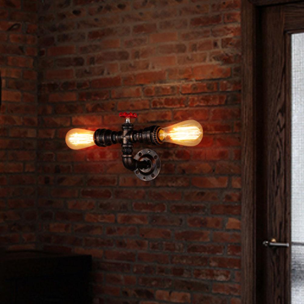 appliques vintage e27 plaqu loft lampe de mur de fer rtro industrielle salle de bains escalier - Appliques Vintage Industrielles Pour Salle De Bain