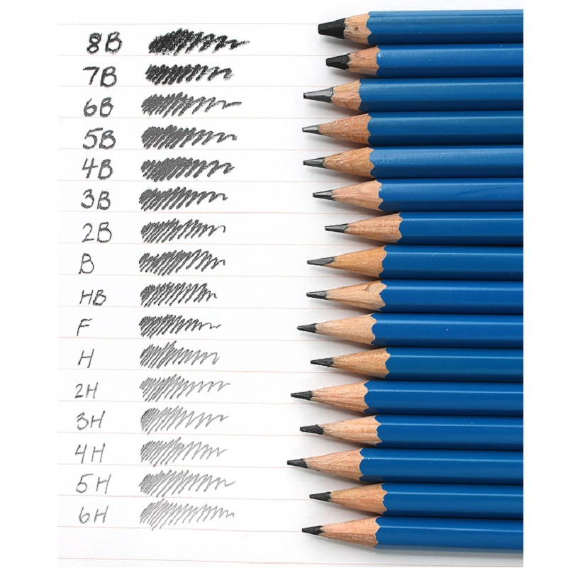 Drawing pencils; Mars Lumograph No.100; Premium quality pencil for writing, drawing and sketching on paper; 12Pcs/Dozen