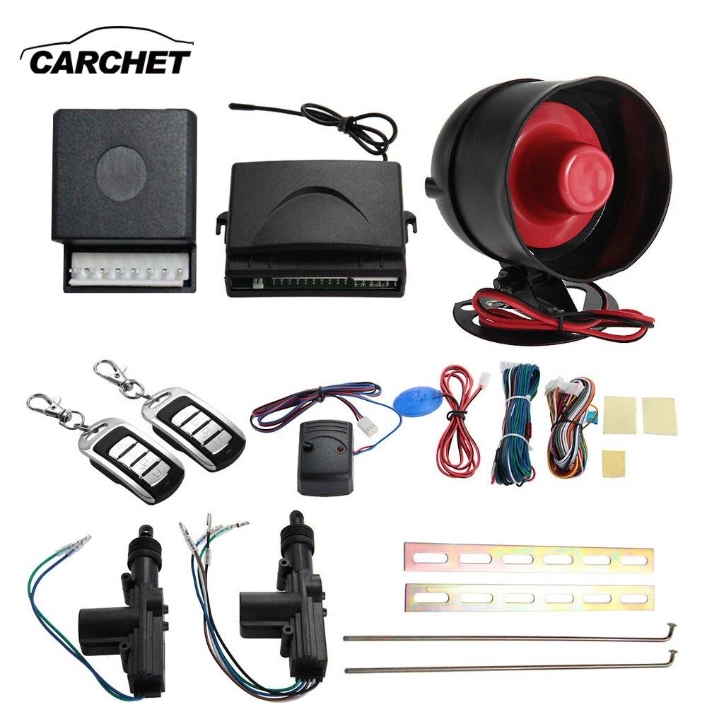CARCHET voiture télécommande centrale 2 portes télécommande sans clé entrée verrouillage Central système d'alarme de voiture sécurité alarme antivol universelle