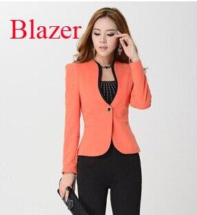 Moda chaqueta y blazer mujeres con brillante color