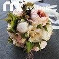 Западный Стиль 2017 Романтические Свадебные Букеты невесты Невесты Рука Аксессуары Букет Де Mariage Каскад Рамос Де Novia